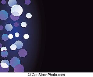 Blurry glittering lights on black backround II - Abstract...