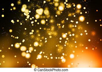 Blurry golden background