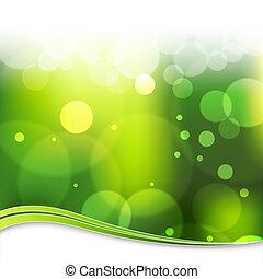 Blurry Green Light Background