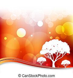 Blurry Light Tree Background