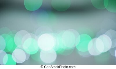 Blurry lights of bright colors - Abstract view of various...
