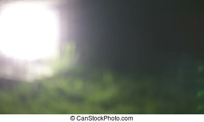 Blurry Motion Background of Ground Lamp - Blurry motion...