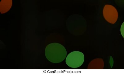 Blurry multicolored lights - Blurry multicolored lights on...