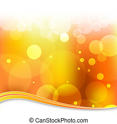 Blurry Orange Light Background