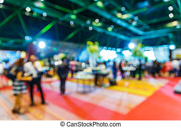 Blurry party background - Blurry cocktail party with people...