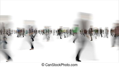 Blurry people time lapse footage