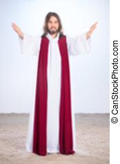 Blurry photo of Christ