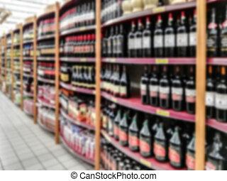 blurry, supermarkt