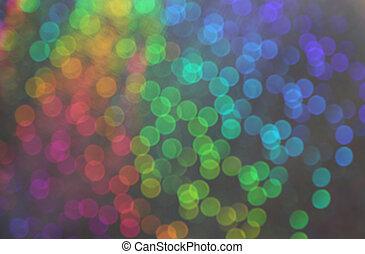 blurry, vision, von, viele, verwischen, punkte, mit, bokeh, effekt, von, viele farben