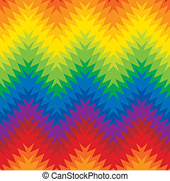 Blurry Zig Zag - Abstract zigzag seamless pattern in a blend...
