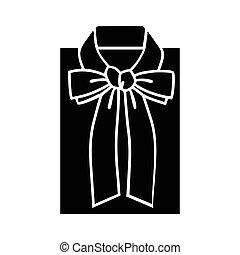 blusa, esboço, femininas, ícone