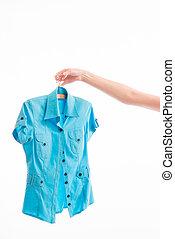 blusa, mulher, chooses