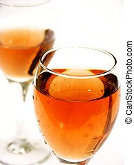 blush wine with shallow dof