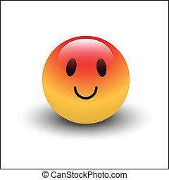 Blushing Smile Vector - Creative Abstract Conceptual Design...