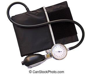 blutdruck, blutdruckmessgeräte, mit, ausschnitt weg