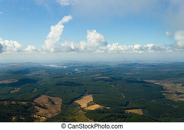 """Blyde River Canyon panorama from """"God's window"""" viewpoint."""