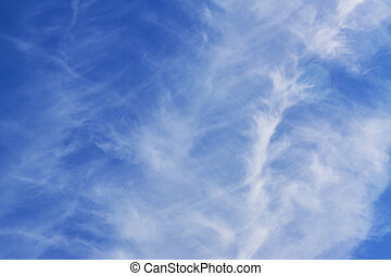 blye sky with white fluffy clouds background