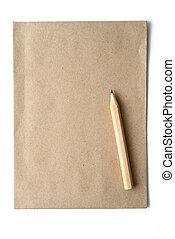 blyertspenna, anteckningsbok