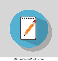 blyertspenna, anteckningsbok, utensils
