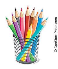 blyertspenna, färgad