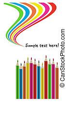 blyertspenna, färgrik