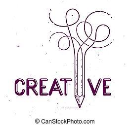 blyertspenna, jag, idéer, speciell, brev, affisch, ...
