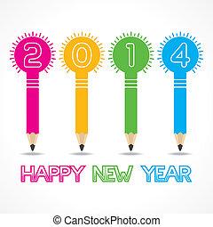 blyertspenna, lök, hälsning, nytt år