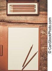 blyertspenna, luxuös, trä tabell