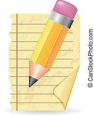 blyertspenna, papper