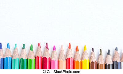 Blyertspenna, Utrymme, färg, bakgrund, vit, avskrift