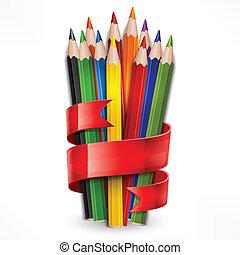 blyertspenna, vita remsa, bundet