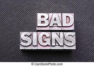 bm, mauvais, signes
