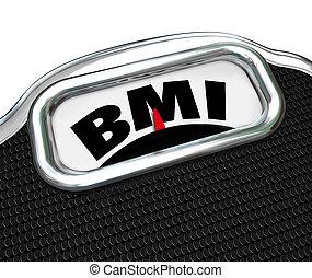 BMI Body Mass Index Acronym Scale Letters