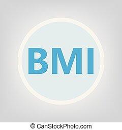 BMI (Body Mass Index) acronym- vector illustration