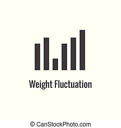 BMI / Body Mass Index Icon w image portraying weight balance