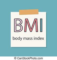 BMI Body Mass Index written in a notebook paper- vector...