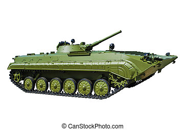 BMP-1 is a Soviet amphibious infantry fighting vehicle