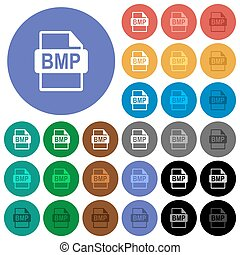 BMP file format round flat multi colored icons