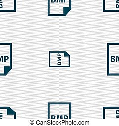 bmp, pictogram, teken., seamless, model, met, geometrisch, texture., vector