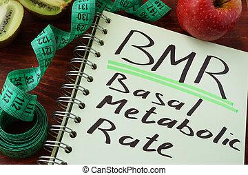 bmr, 基底である, レート, metabolic