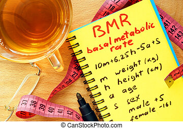 BMR basal metabolic rate formula
