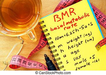 BMR basal metabolic rate formula