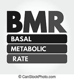 bmr, siglas, metabolic, tasa, -, basal