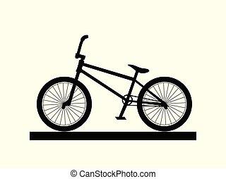 BMX bike silhouette sport extreme dirt street