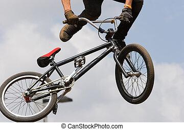 BMX biker Airborne