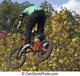 BMX Biker - BMX biker airborne