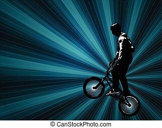 bmx cyclist background