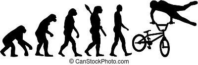 bmx fahrrad, evolutionsphasen