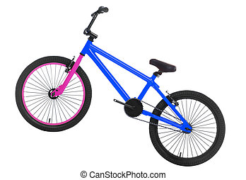 bmx fahrrad, freigestellt, weißes