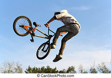bmx fietsen, fiets, sportende